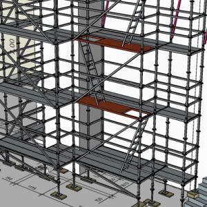 Gerüstplanung mit scaffmax-Gerüstsystem Layher Allroundgerüst LW