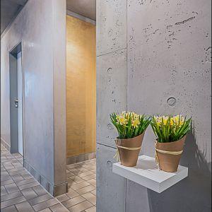 Wandflächen im Beton-Look